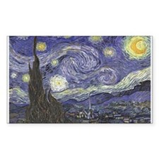 Starry Night Rectangle Decal