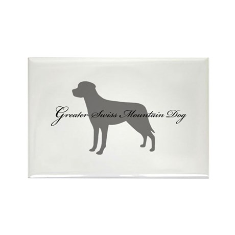 Greater Swiss Mountain Dog Rectangle Magnet (10 pa