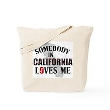 Somebody In California Tote Bag