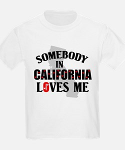 Somebody In California Kids T-Shirt