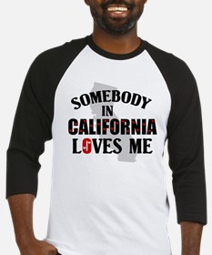 Somebody In California Baseball Jersey