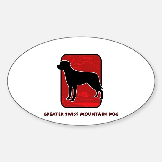 Greater Swiss Mountain Dog Oval Decal