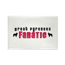 Great Pyrenees Fanatic Rectangle Magnet