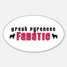 Great Pyrenees Fanatic Oval Decal