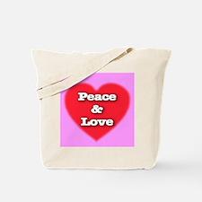 Peace & Love Tote Bag
