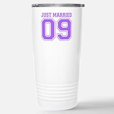 Just Married 09 (Purple) Travel Mug