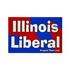 Illinois Liberal Rectangular Magnet