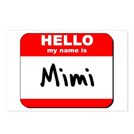 Hello my name is Mimi Postcards (Package of 8)