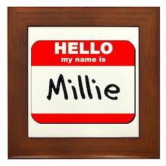 Hello my name is Millie Framed Tile