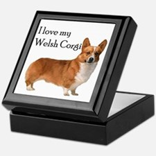 I love my Welsh Corgi Keepsake Box