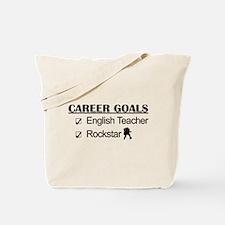 English Teacher Career Goals - Rockstar Tote Bag
