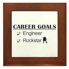 Engineer Career Goals - Rockstar Framed Tile