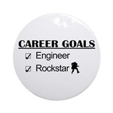 Engineer Career Goals - Rockstar Ornament (Round)