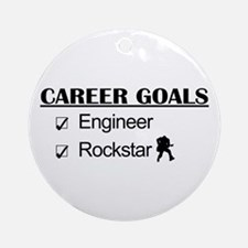 Engineer Career Goals - Rockstar Ornament (Round)