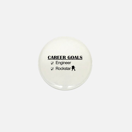Engineer Career Goals - Rockstar Mini Button