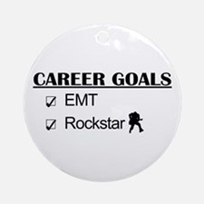 EMT Career Goals - Rockstar Ornament (Round)