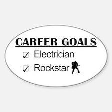 Electrician Career Goals - Rockstar Oval Decal