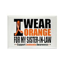 I Wear Orange For My SIL Rectangle Magnet (10 pack