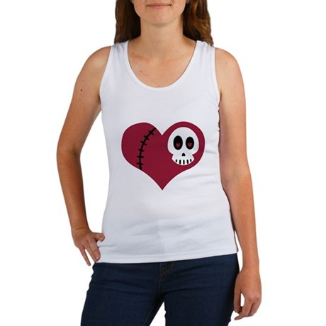 Skull Heart Women's Tank Top