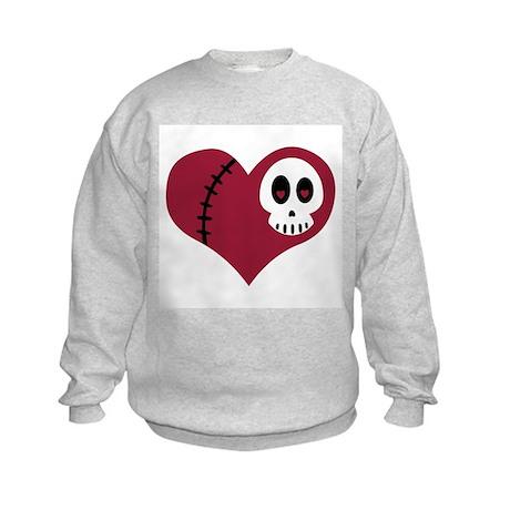 Skull Heart Kids Sweatshirt