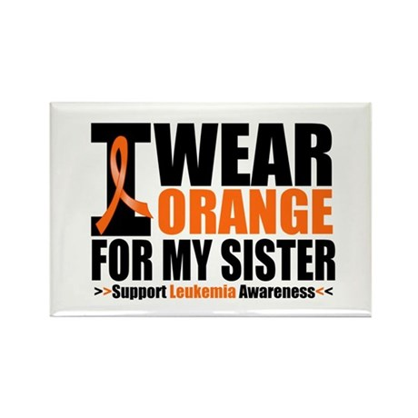 I Wear Orange For My Sister Rectangle Magnet