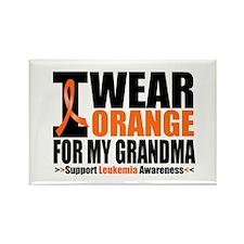 I Wear Orange For My Grandma Rectangle Magnet