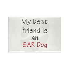 My Best Friend is an SAR Dog Rectangle Magnet