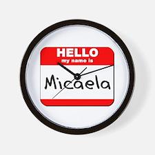 Hello my name is Micaela Wall Clock