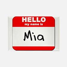Hello my name is Mia Rectangle Magnet