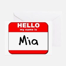 Hello my name is Mia Greeting Card