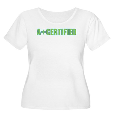 A+ Certified Women's Plus Size Scoop Neck T-Shirt