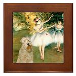 Dancer1/Wheaten T Framed Tile