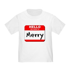 Hello my name is Merry T