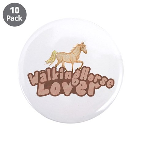 """Walking Horse 3.5"""" Button (10 pack)"""