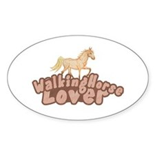 Walking Horse Oval Decal