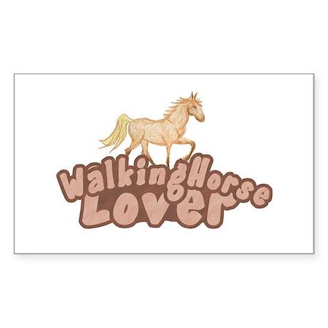 Walking Horse Rectangle Sticker