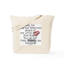 Democrats and Palin Tote Bag