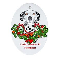 Dalmatian Little Compton, RI Ornament