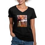 Dancer1/Wheaten T (7) Women's V-Neck Dark T-Shirt