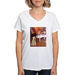 Dancer1/Wheaten T (7) Women's V-Neck T-Shirt