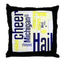Cute Michigan wolverines Throw Pillow