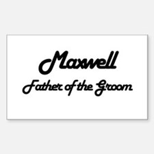 Maxwell - Father of Groom Rectangle Decal