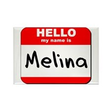 Hello my name is Melina Rectangle Magnet