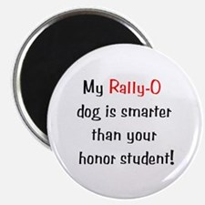 """My Rally-O dog is smarter.. 2.25"""" Magnet (10 pack)"""