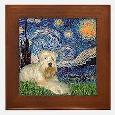 Starry / Wheaten T #1 Framed Tile