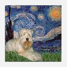 Starry / Wheaten T #1 Tile Coaster