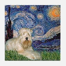 Starry / Wheaten T #1 Tile Coaster