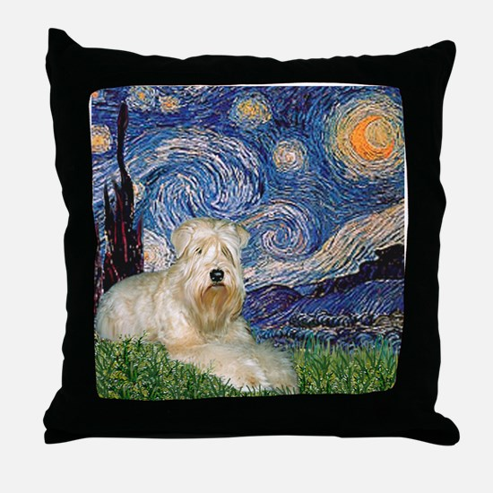 Starry / Wheaten T #1 Throw Pillow