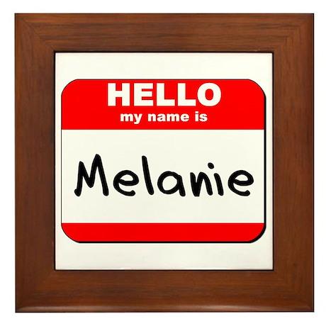 Hello my name is Melanie Framed Tile