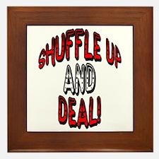 Shuffle Up and Deal! Framed Tile
